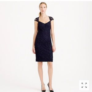 J. Crew Tinsley Dress in Leavers Lace